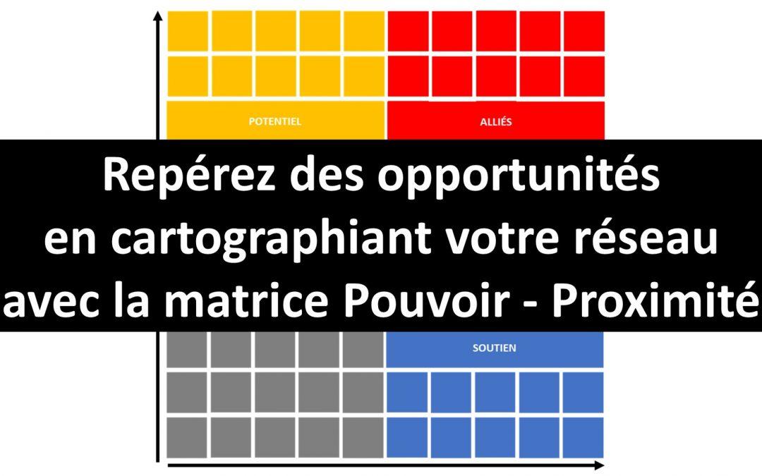 VIDÉO ! Repérez des opportunités professionnelles avec la matrice Pouvoir – Proximité