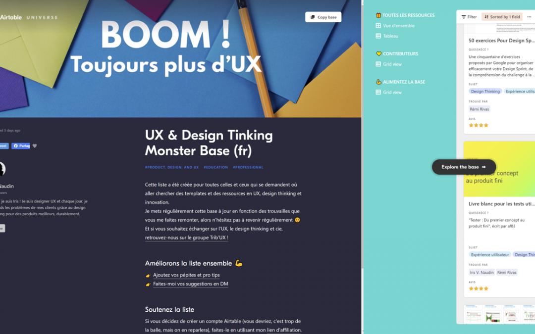 Découvrez la UX & Design Tinking Monster Base de Iris Naudin !