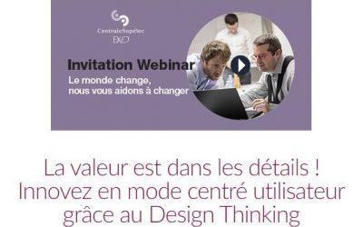 Réservez votre place pour mon prochain webinar 100% gratuit sur le Design Thinking ! (Et posez-moi toutes vos questions)