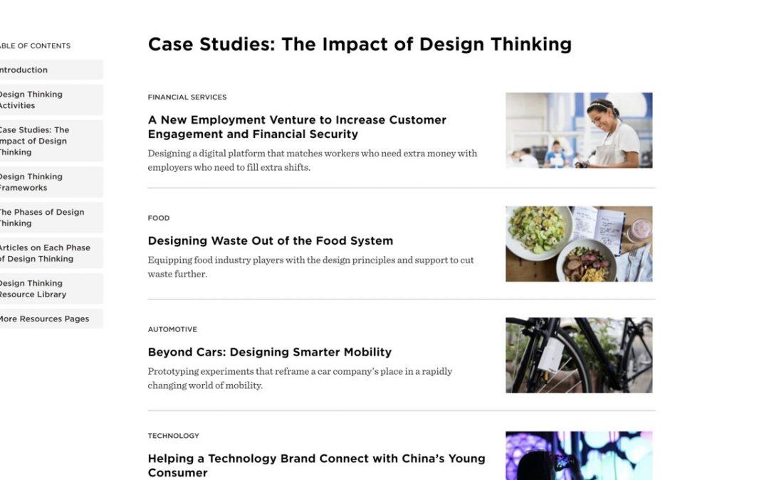14 études de cas d'IDEO sur les bénéfices du Design Thinking